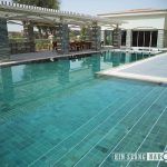 Bali green or green sukabumi swimming pool tiles installed private residence