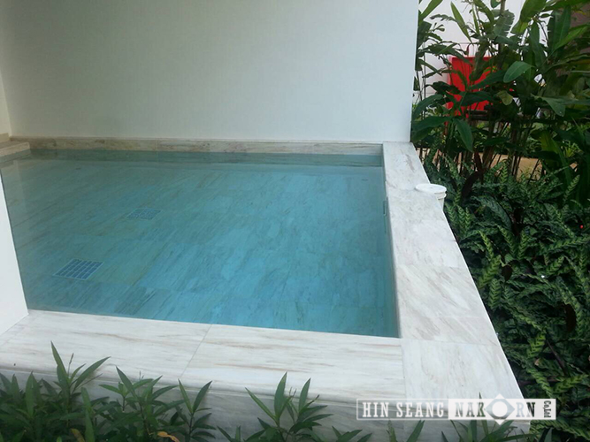 White Dolomite Pool Tiles Hin Saeng Nakorn Co Ltd